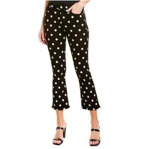 7 For All Mankind High-waist Slim Kick Polka Jeans